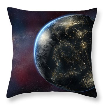 Earth One Day Throw Pillow by David Collins