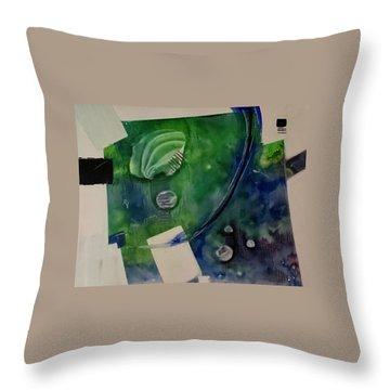 Earth Over Sky Throw Pillow