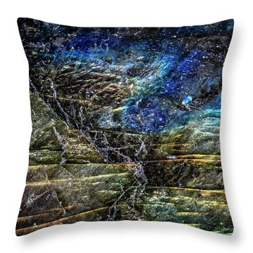 Throw Pillow featuring the photograph Earth Portrait 01-18 by David Waldrop