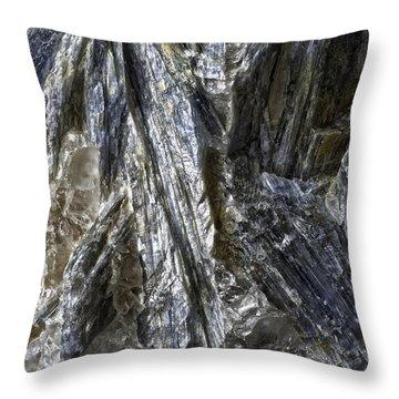 Earth Portrait Kyanite 001-089 Throw Pillow