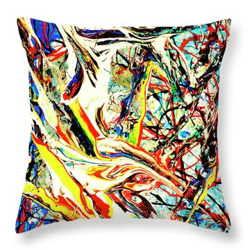 Throw Pillow featuring the painting Earth Quaked by Elf Evans