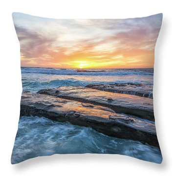 Earth, Sea, Sky Throw Pillow