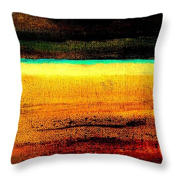 Earth Stories Abstract Throw Pillow