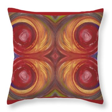 Earth Storm Quad Throw Pillow
