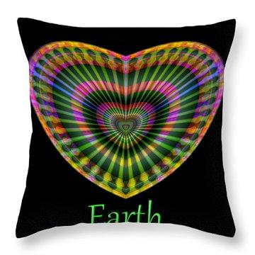 Throw Pillow featuring the digital art Earth by Visual Artist Frank Bonilla