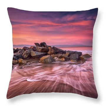 Earth, Water And Sky Throw Pillow