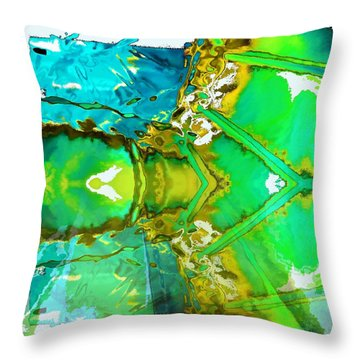 Earth Water Sky Abstract Throw Pillow