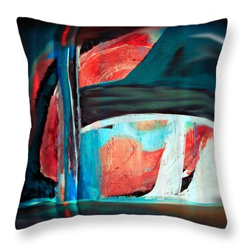 Contrast And Concept Throw Pillow