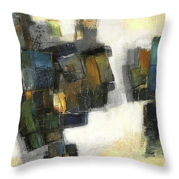 Lemon And Tiles Throw Pillow