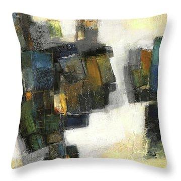 Lemon And Tiles Throw Pillow by Behzad Sohrabi