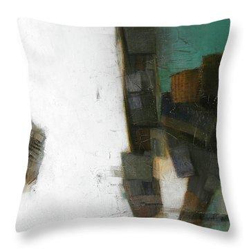 Earth Pattern Throw Pillow by Behzad Sohrabi