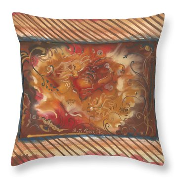 Eartheart Throw Pillow