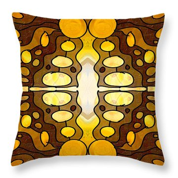 Earthly Awareness Abstract Organic Artwork By Omaste Witkowski Throw Pillow
