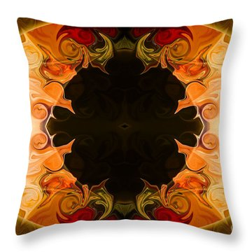 Throw Pillow featuring the digital art Earthly Undecided Bliss Abstract Organic Art By Omaste Witkowski by Omaste Witkowski