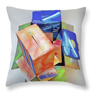 Earthquake 2 Throw Pillow by Charles Stuart
