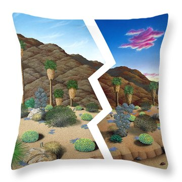Earthquake Throw Pillow by Snake Jagger