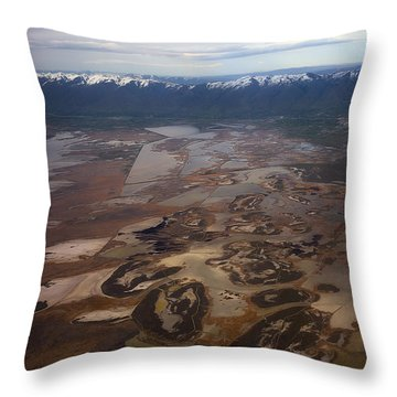 Throw Pillow featuring the photograph Earth's Kidneys by Ryan Manuel