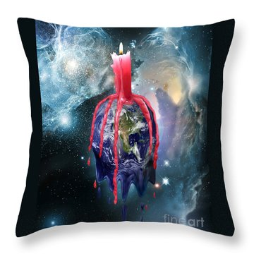Earth's Last Light Throw Pillow