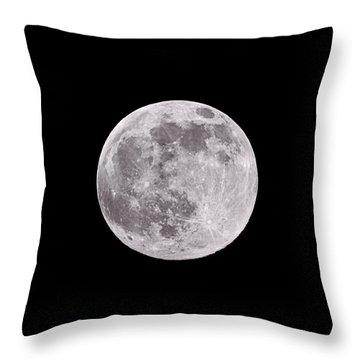 Earth's Moon Throw Pillow
