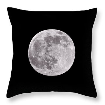 Earth's Moon Throw Pillow