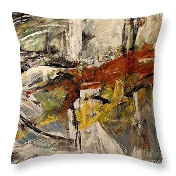 Earthy Abstraction Throw Pillow by Debora Cardaci
