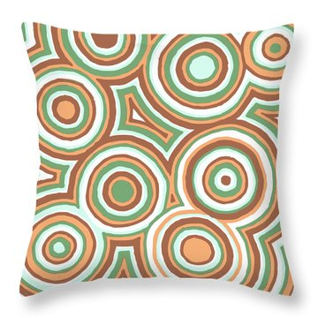 Earthy Drops Throw Pillow