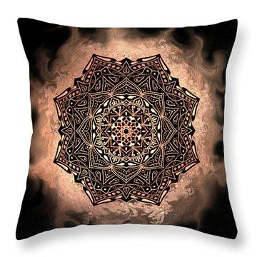 Earthy Mandala Throw Pillow