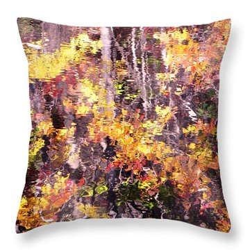 Earthy Water Throw Pillow