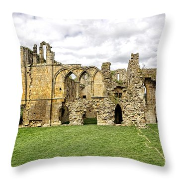 Easby Abbey Throw Pillow