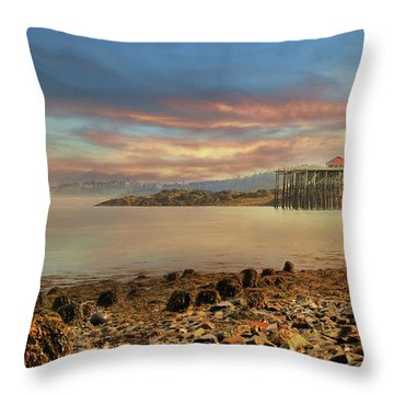 Throw Pillow featuring the photograph Eastport Low Tide by Lori Deiter
