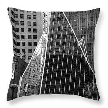 East 42nd Street, New York City  -17663-bw Throw Pillow