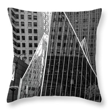 Throw Pillow featuring the photograph East 42nd Street, New York City  -17663-bw by John Bald