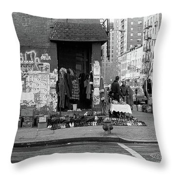 East 7th Street 1979 Throw Pillow