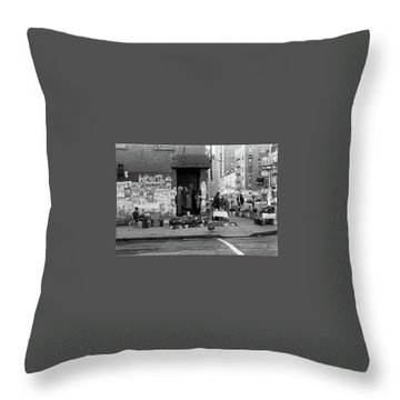 Throw Pillow featuring the photograph East 7th Street 1979 by Dave Beckerman