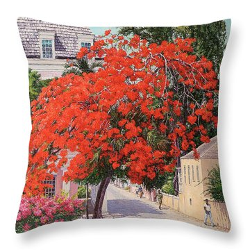 East And Shirley Street Throw Pillow
