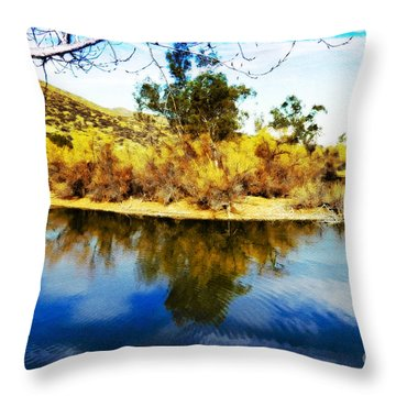Throw Pillow featuring the photograph East Bay, Canyon Lake, Ca by Rhonda Strickland