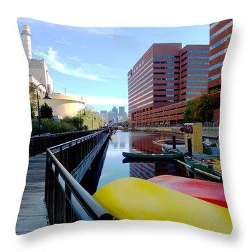 East Cambridge  Throw Pillow