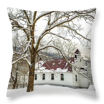 East Chapel Church Throw Pillow
