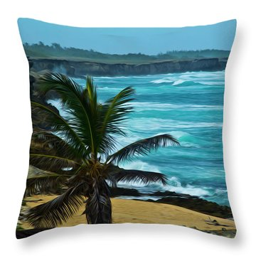 East Coast Bay Throw Pillow