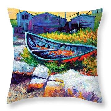 East Coast Boat Throw Pillow