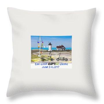 East Coast Elliptigo Classic  Opus 3 Throw Pillow