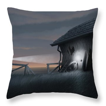 East Coast Fear Throw Pillow