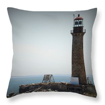 East Coast Lighthouse Throw Pillow