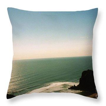 East Coastline In New Zealand Throw Pillow