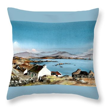 East End, Inishboffin, Galway Throw Pillow