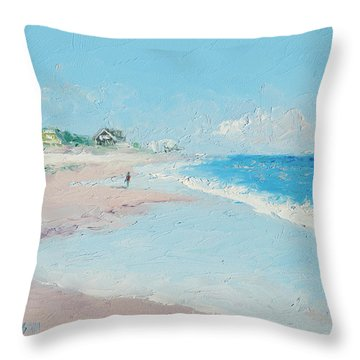East Hampton Beach Throw Pillow