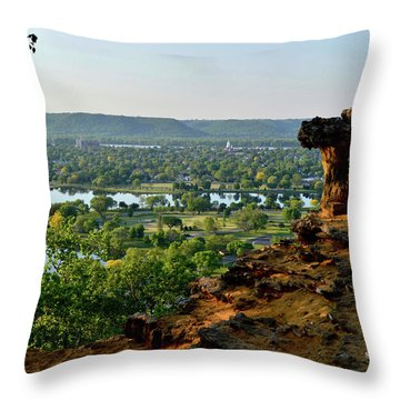 East Lake Winona Throw Pillow