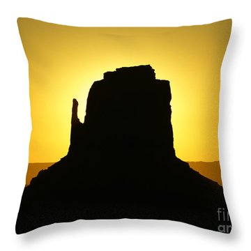 East Mitten Butte Throw Pillow