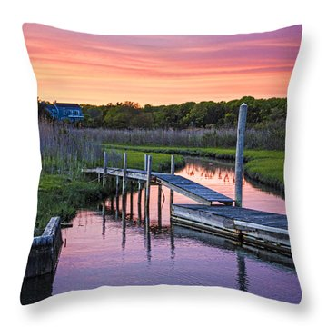 East Moriches Sunset Throw Pillow