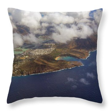 East Oahu From The Air Throw Pillow